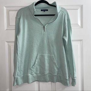 Quarter Zip Aqua Sweatshirt Ocean Drive M